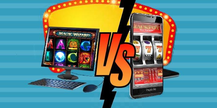 ألعاب الكازينو: الكمبيوتر مقابل الموبايل