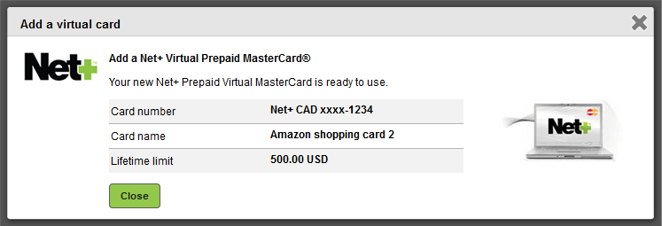 بطاقة افتراضية